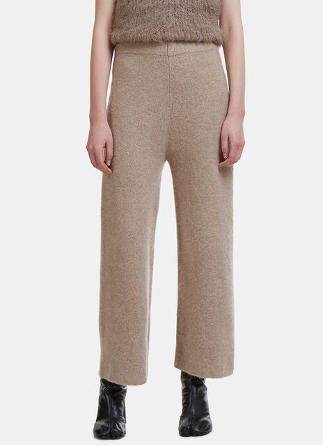 'High Waisted' Straight Leg Knit Pants