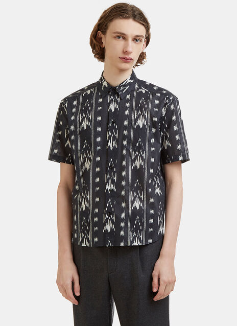 Saint Laurent Ikat Printed Cotton Shirt