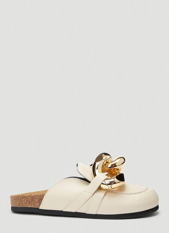 JW Anderson Chain Leather Loafers 1