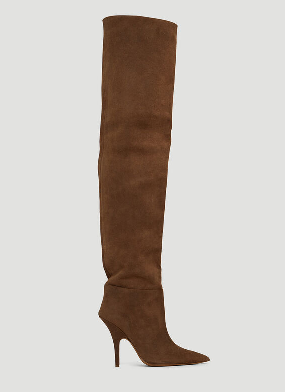 Yeezy Suede Tubular Thigh High Boots