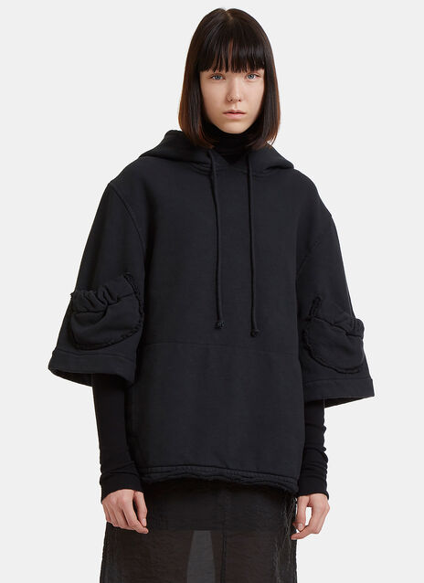 Raw Cut Hooded Sweater