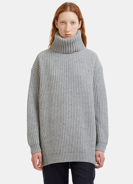 Disa Ribbed Knit Roll Neck Sweater