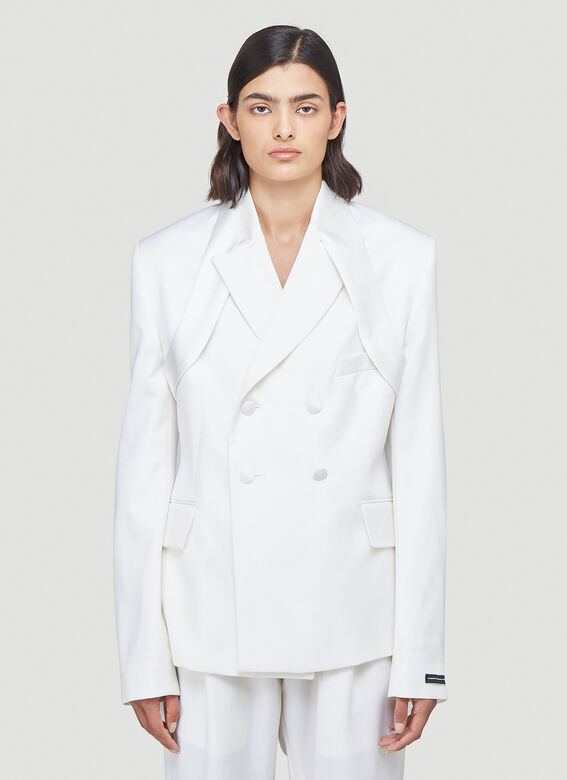 GmbH BELTED JACKET W EXTENDED TOP LAPEL 1