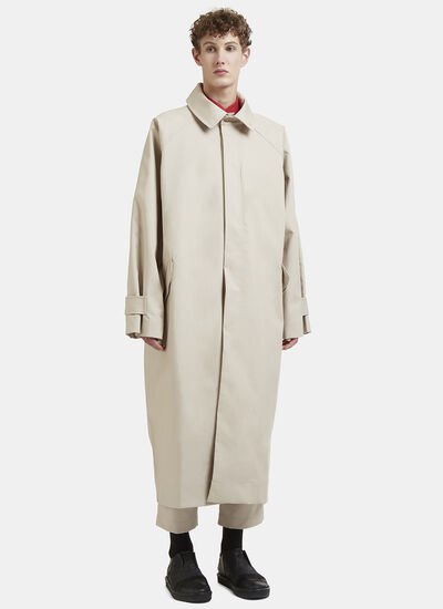 Hed Mayner Long Oversized Trench Coat