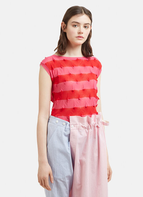 Eatable Of Many Orders Striped Kaili Top