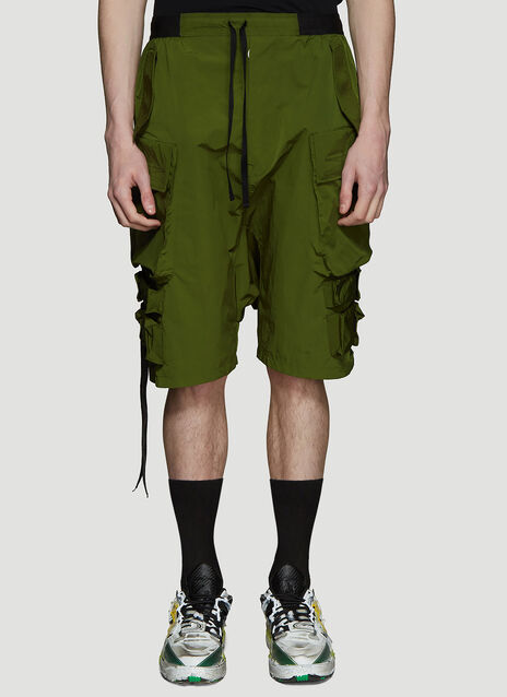Unravel Project Nylon Cargo Shorts
