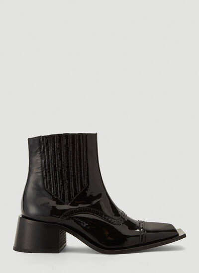 Martine Rose Squared-Toe Ankle Boots