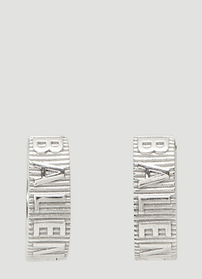 Balenciaga Force Striped Earrings