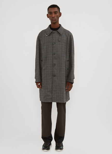 Lanvin Reversible Houndstooth Trench Coat