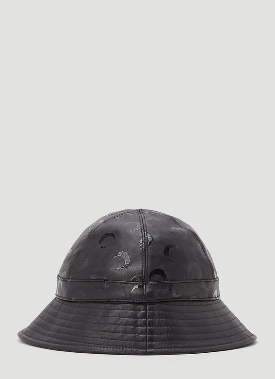 Marine Serre MOON PRINTED LEATHER BELL HAT -REGENERATED- 4