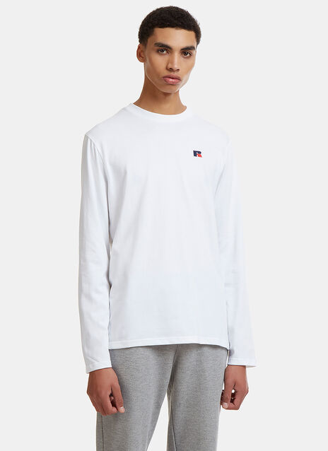 Russell Athletic Embroidered Logo Longsleeved T-Shirt