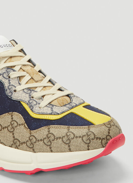 Gucci RHYTON DIRTY SNEAKER IN COLOURED PANELS 5