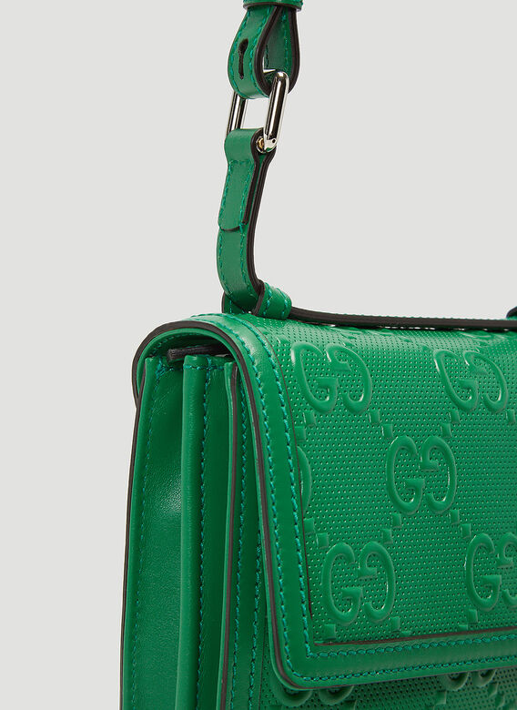 Gucci Perforated-Leather Crossbody Bag 5