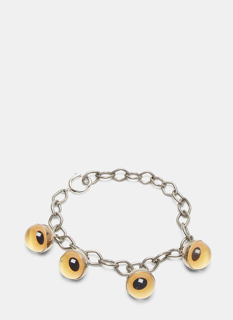 Sphere Eye Charm Chain Bracelet