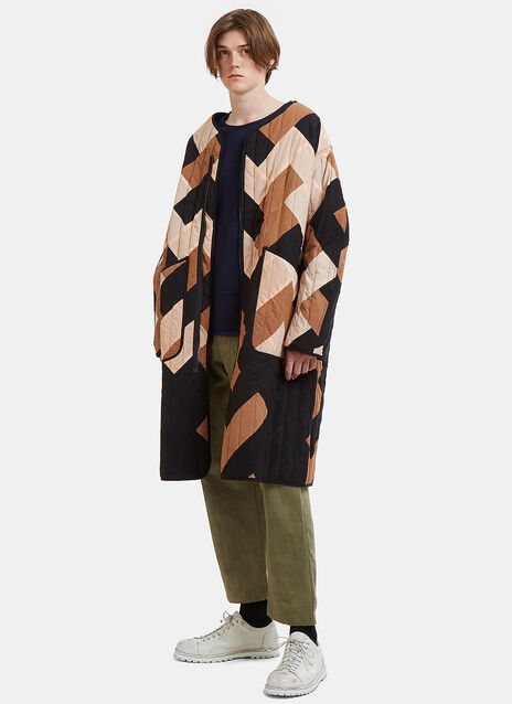 Tellus X Long Quilted Patchwork Jacket