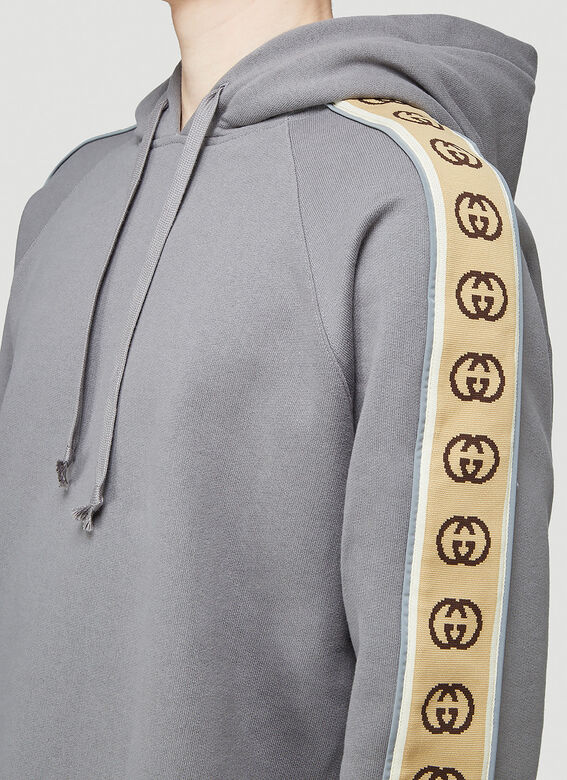 Gucci HOODED SWEATSHIRT HEAVY FELTED COTTON JERSEY 5
