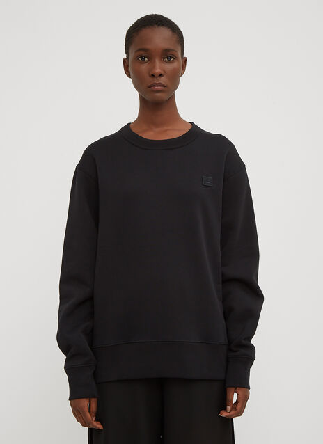 Acne Studios Fairview Oversized Face Embroidered Sweater