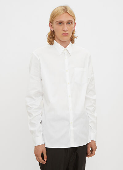 Prada Stretch Cotton Stitch Shirt