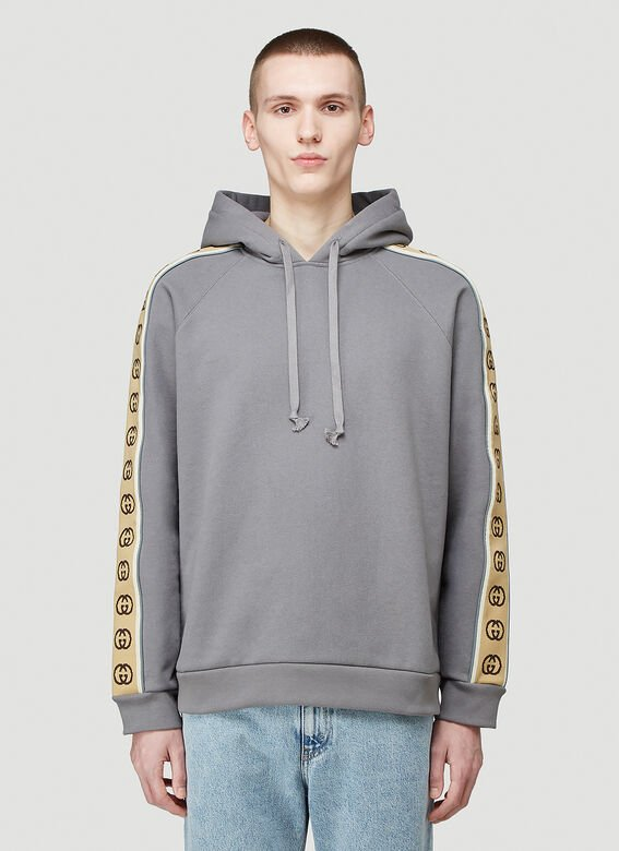 Gucci HOODED SWEATSHIRT HEAVY FELTED COTTON JERSEY 1
