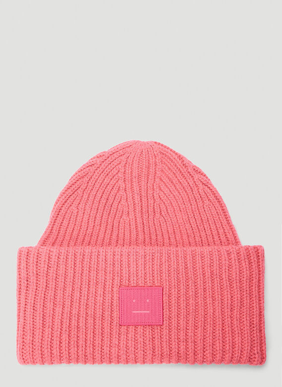 Acne Studios Beanies Pansy N Face Beanie Hat in Pink