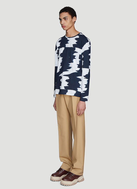 Missoni Wide Zig-Zag Long Sleeve T-Shirt