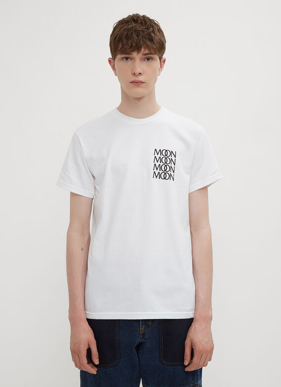 Joe Garvey Moon Merch T-Shirt in White | LN-CC