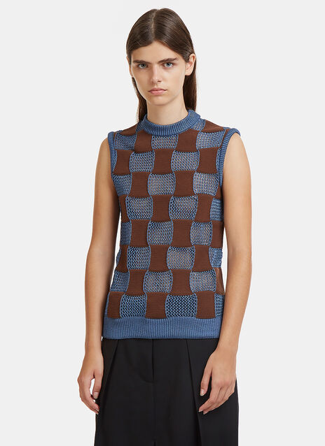 Marni Snakes and Ladders Knit Top