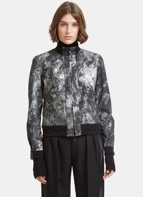 Giorgio Brato Metallic Brushed Leather Jacket