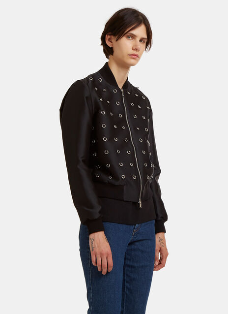 Stella Mccartney Elgin Metal Ring Bomber Jacket