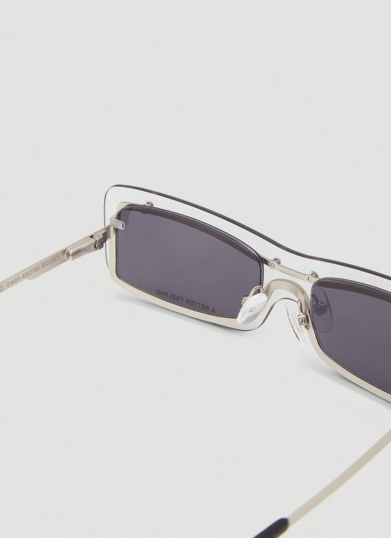 A BETTER FEELING STERGE* Matte stainless steel + ice/smoke lenses 5