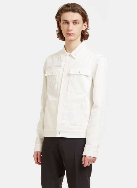 Embroidered Patch Cuba Twill Shirt Jacket