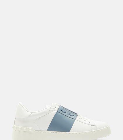 Open Contrast Panel Stud Sneakers