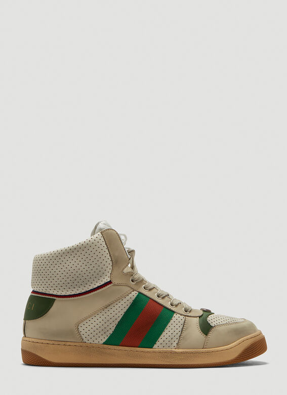 614631b143b Screener Leather High-Top Sneakers in White