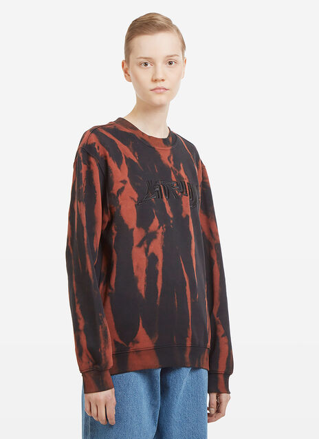 Nhu Duong Distorted Embroidered Bleached Logo Sweatshirt