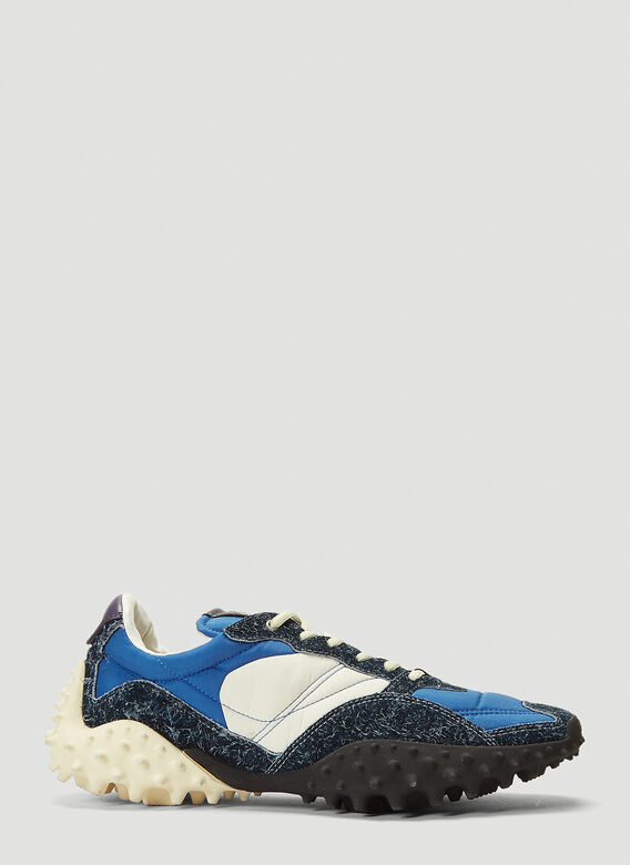 Eytys Contrast-Panel Sneakers in Blue