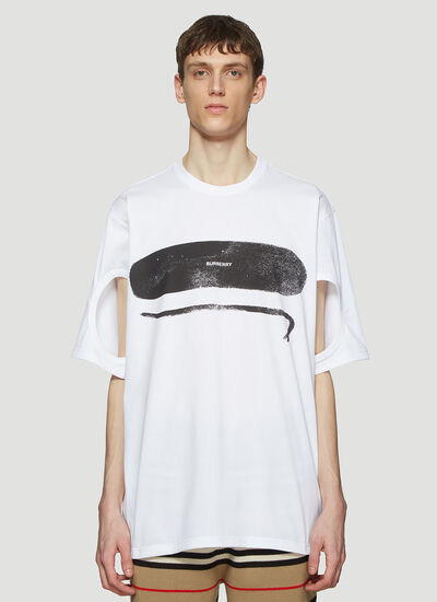 Burberry Cut-Out Sleeve T-Shirt
