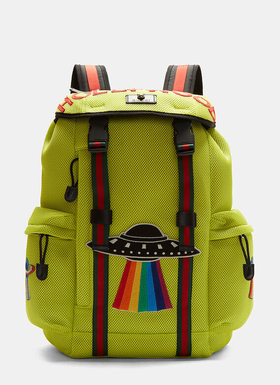 1aef88ccbabb Gucci Zaino Hollywood Appliqué Mesh Backpack. click to zoom