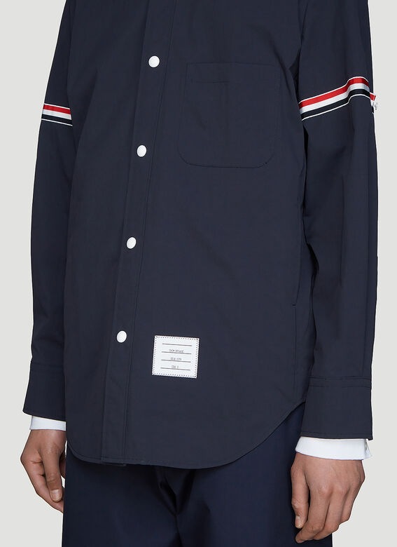 Thom Browne Snap Front Over-Shirt Jacket 5