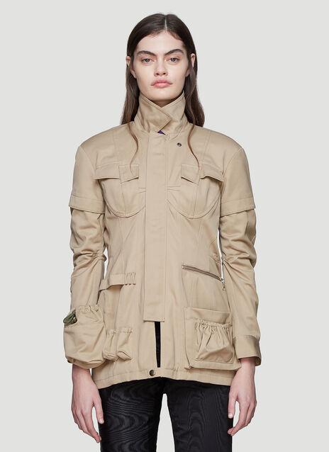 Marine Serre Military Structured Jacket