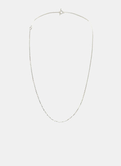 All Blues Polished String Chain Necklace