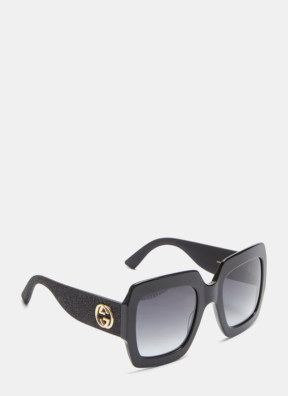 0a1703ed02 Oversize Square-Frame GG0102S Acetate Sunglasses in Black
