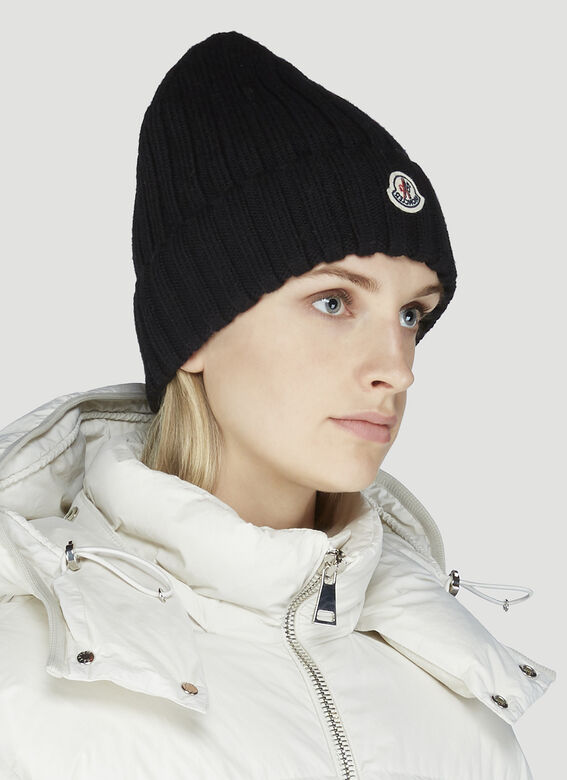 Moncler Chunky Knit Beanie Hat 2