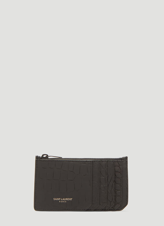 Saint Laurent Fragments Crocodile Zip Wallet