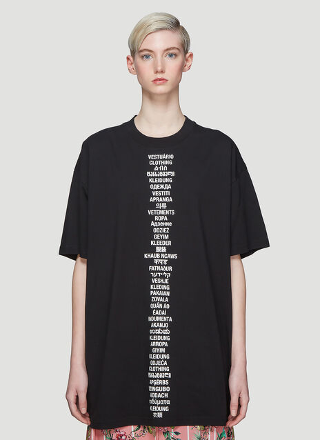 Vetements Translated T-Shirt