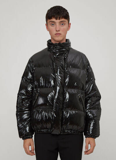 Prada Funnel Neck Nylon Puffa Jacket