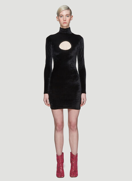 Vetements Cut-Out Body Dress