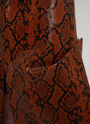 Marni MONTONE STAMPA PITONE LUCIDO,LEATHER SKIRT,GONNA PELLE