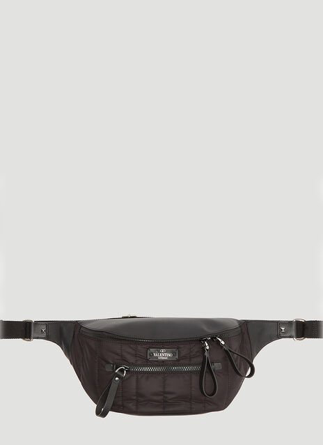 Valentino Nylon Stud Belt Bag