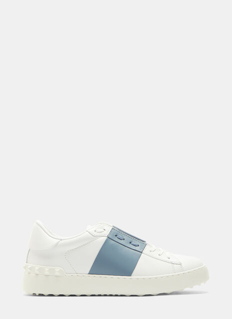 Valentino Open Contrast Panel Stud Sneakers