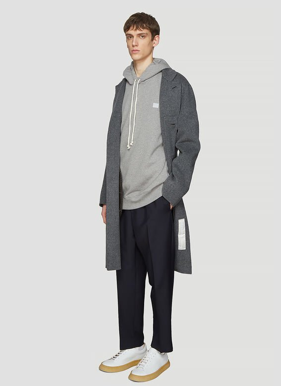 Acne Studios Hooded Oversized Face Patch Sweatshirt